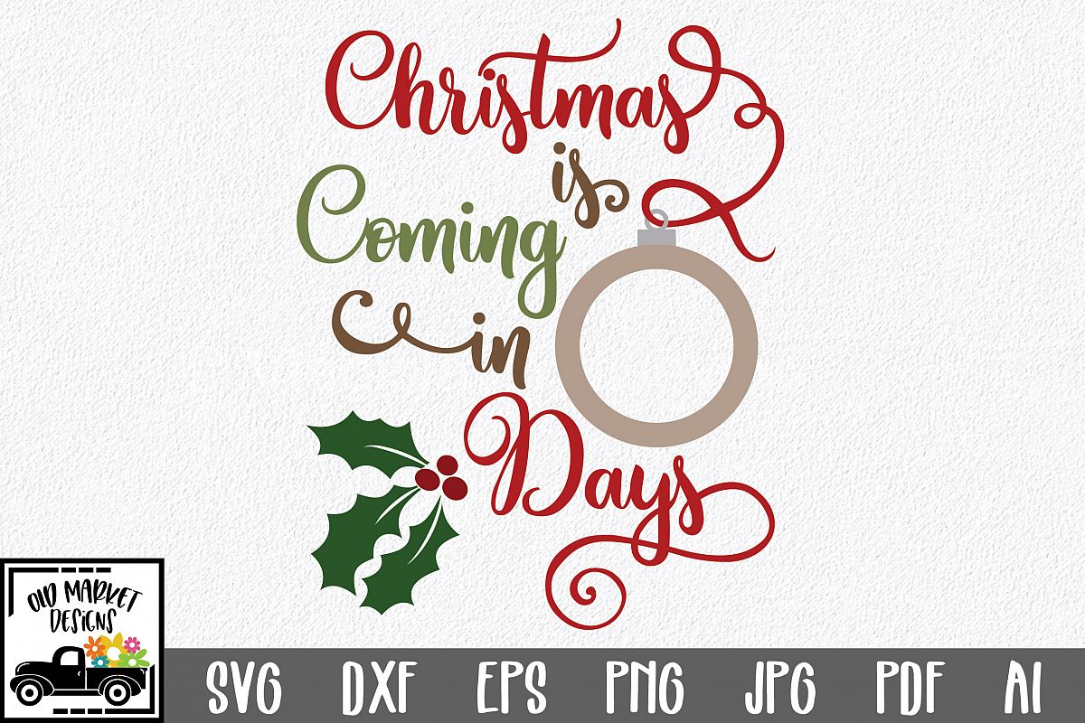 Christmas Countdown SVG Cut File - Christmas Ornament SVG example image 1
