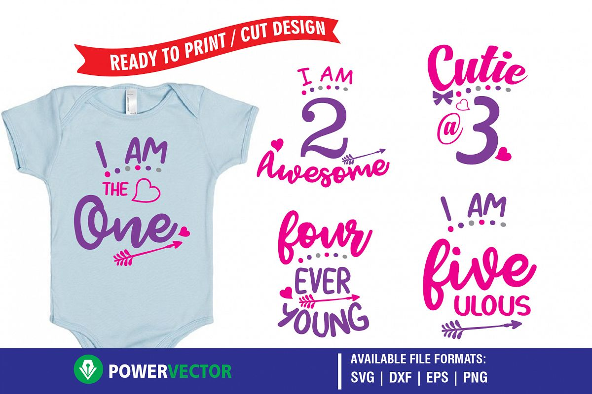 Kids Birthday Party T Shirt Designs Printing Cutting Files Example Image 1