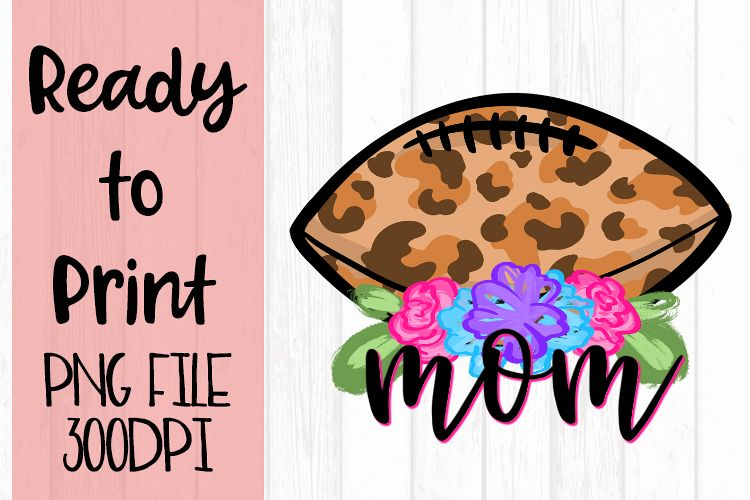 Doodle Mom Football Ready to Print example image 1