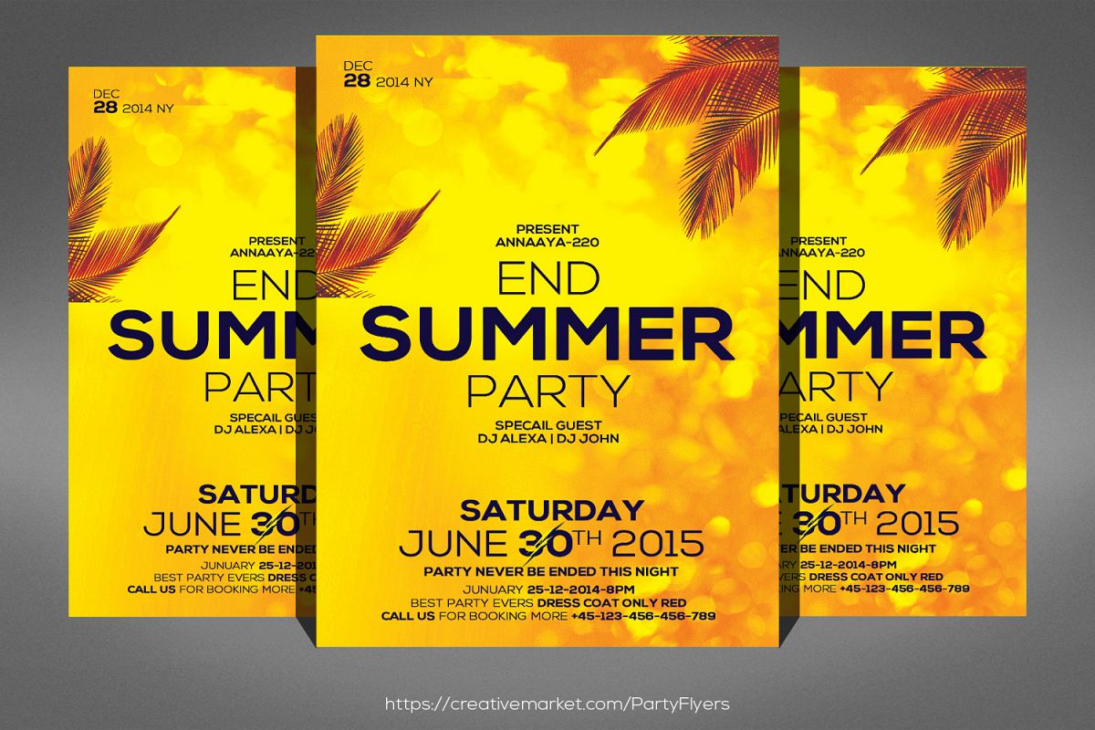 Summer End Party Flyer example image 1