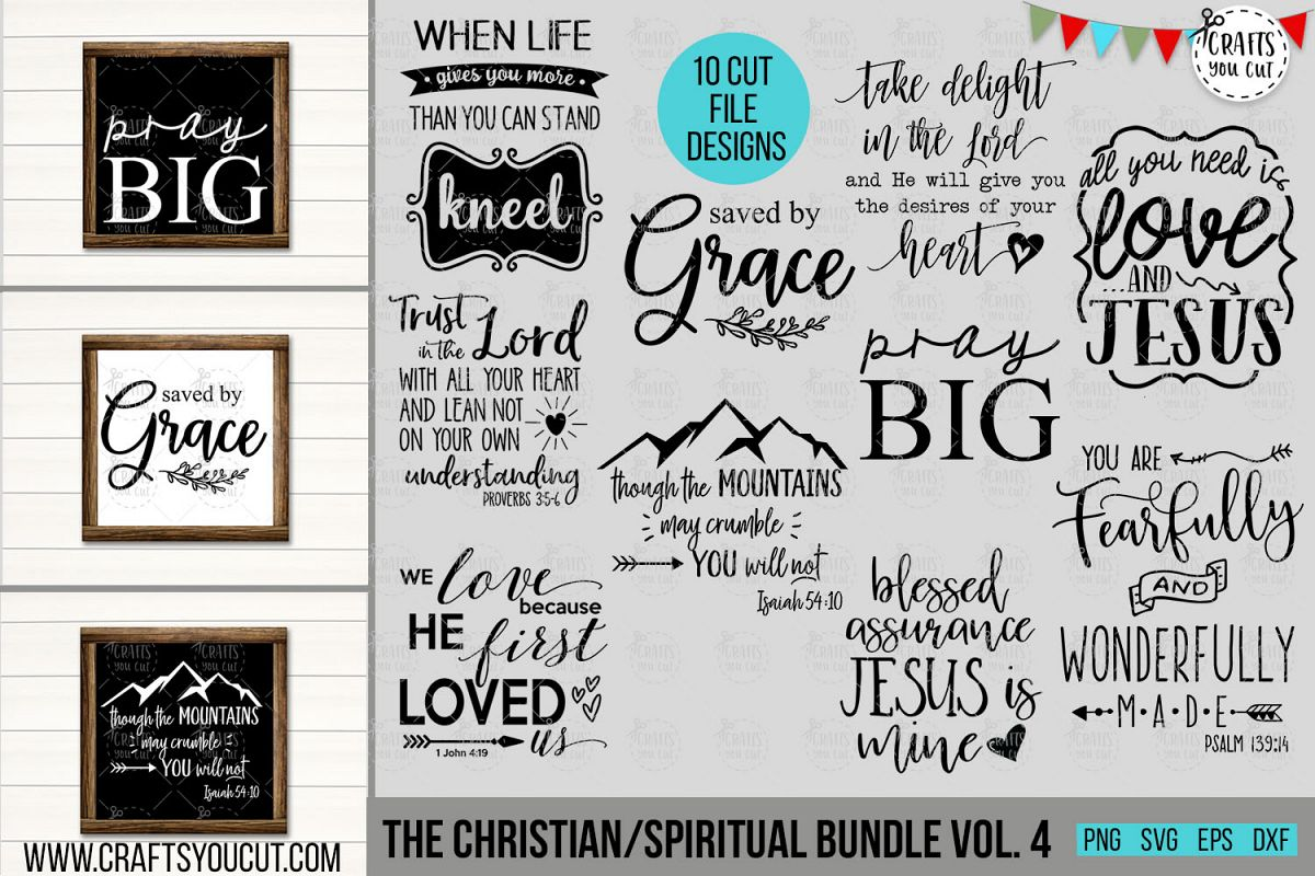 Christian/Spiritual Bundle Vol. 4- An SVG Cut File Bundle example image 1