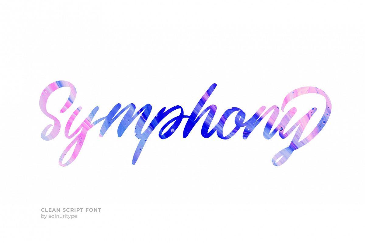 Symphony Script Font example image 1