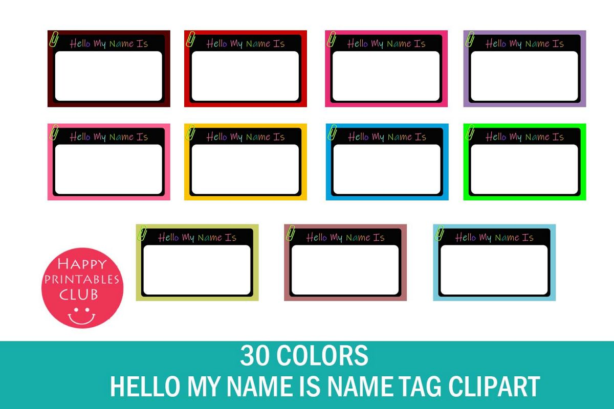 Name Tag Clipart School Cl Tags