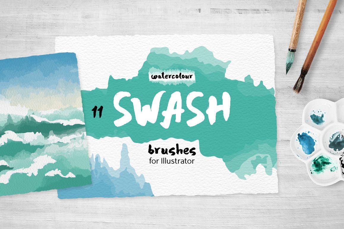 Swash Brushes for Illustrator example image 1