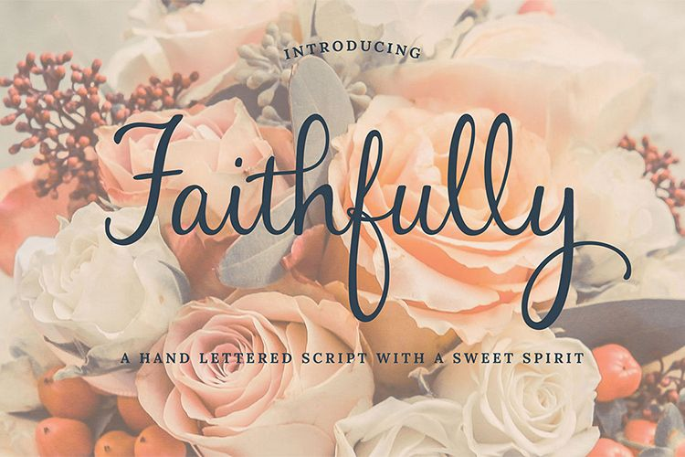 Faithfully - Hand Lettered Script Font example image 1