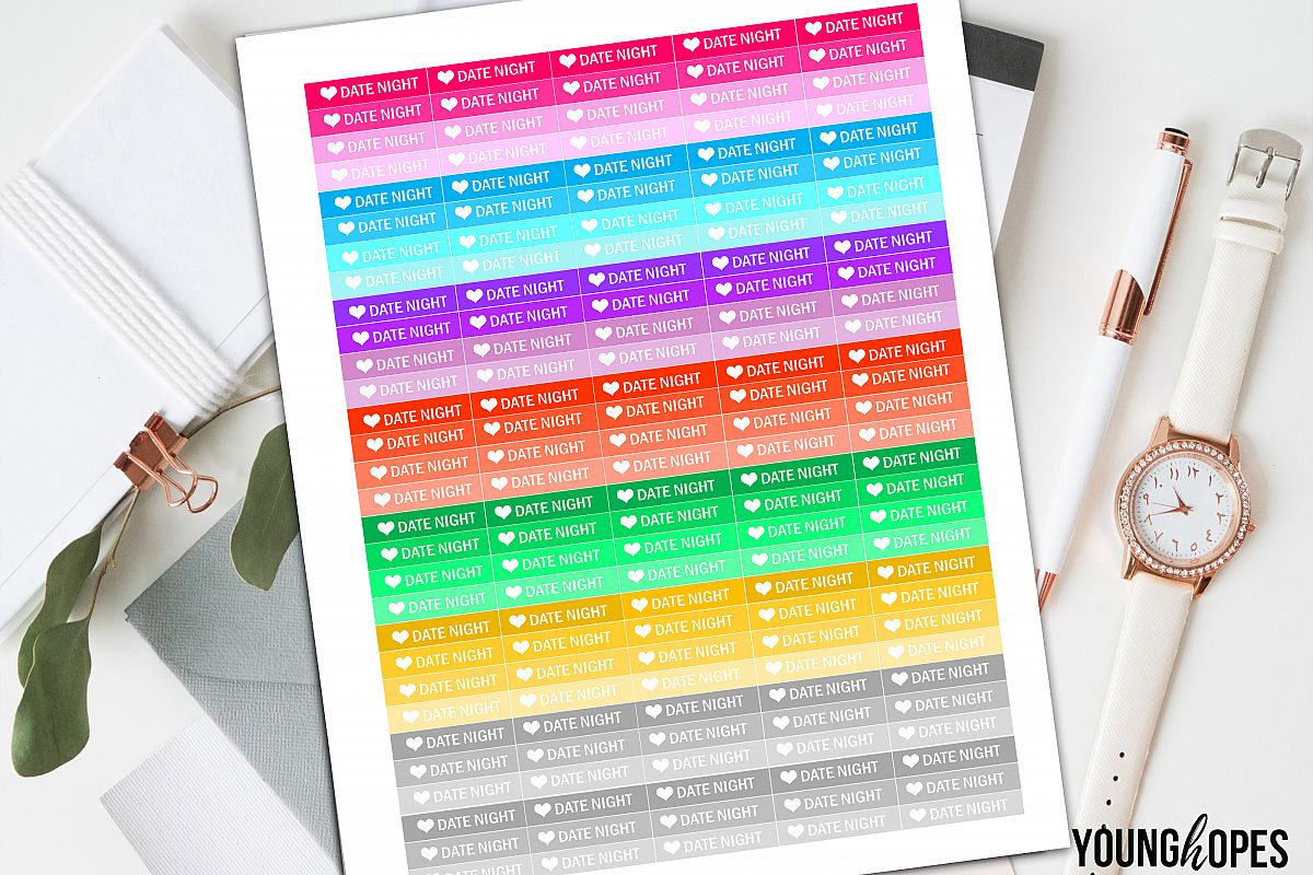 Date Night Planner Stickers example image 1