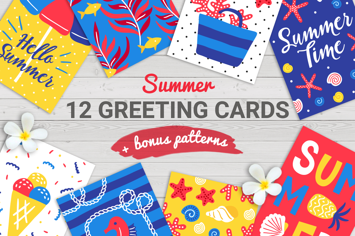 12 Summer Cards & Bonus Patterns example image 1