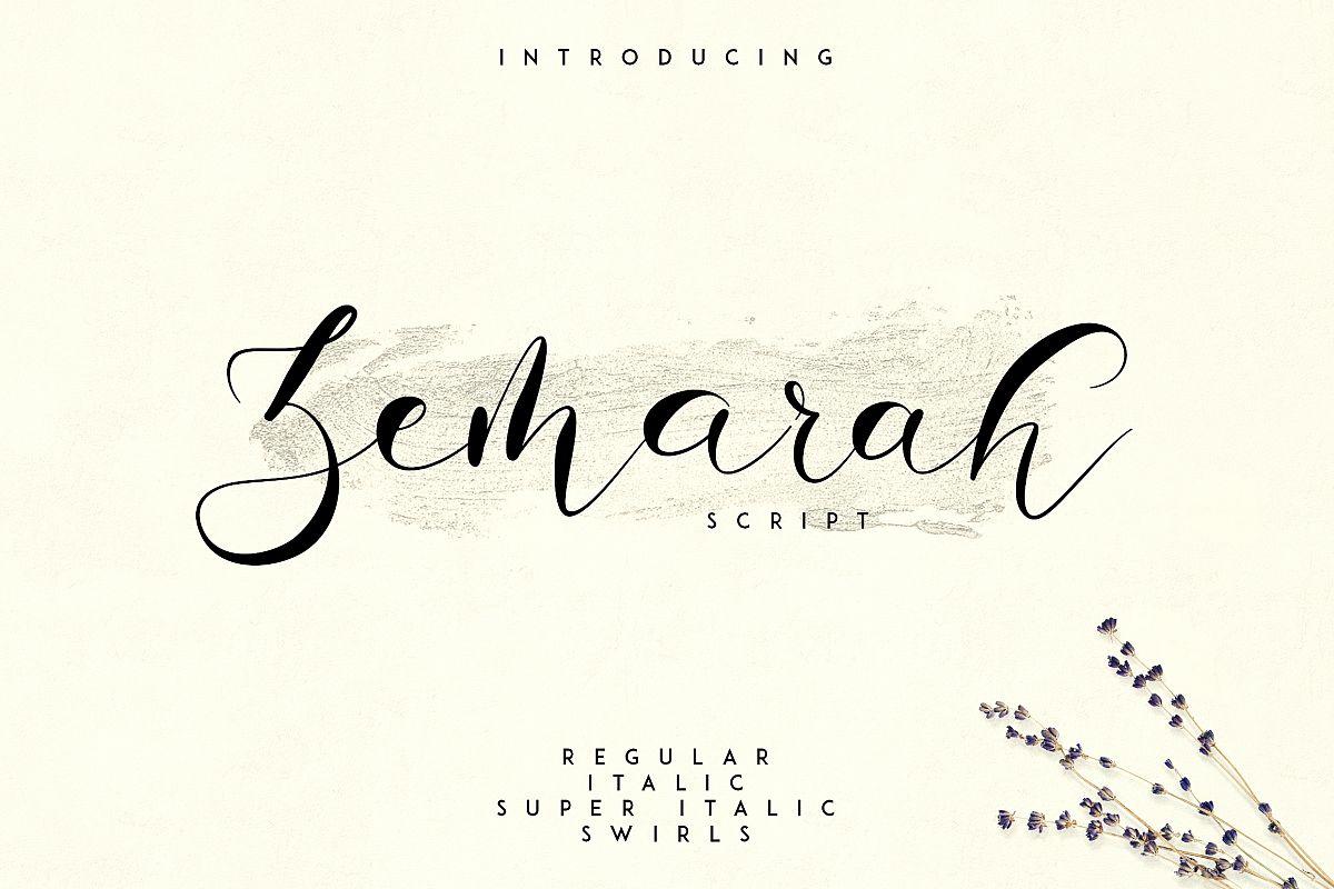 Zemarah script - 3 styles Extras example image 1