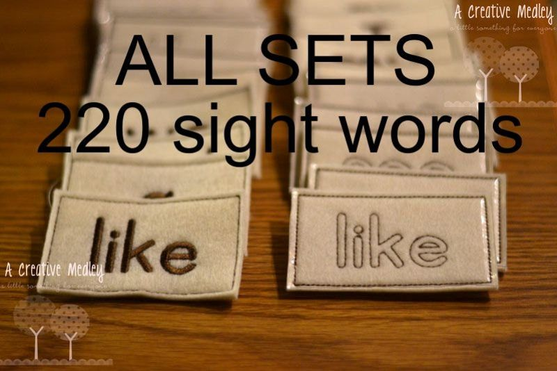 Sight Words Full Set ENTIRE 220 Dolch Word Set- 440 files example image 1