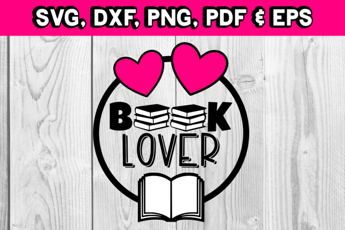 Book lover - Book svg - book silhouette - library - book example image 1