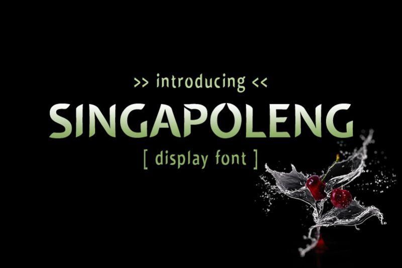 Singapoleng Font example image 1