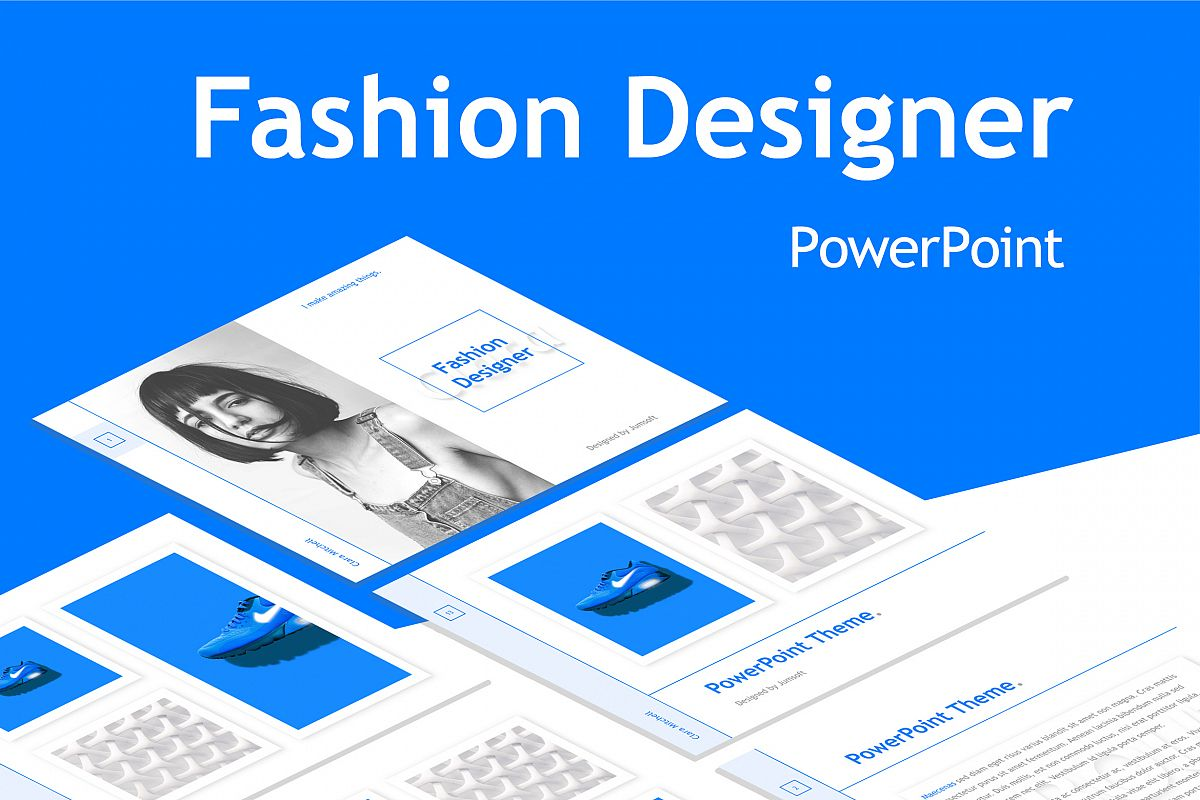 Fashion Designer PowerPoint Template example image 1