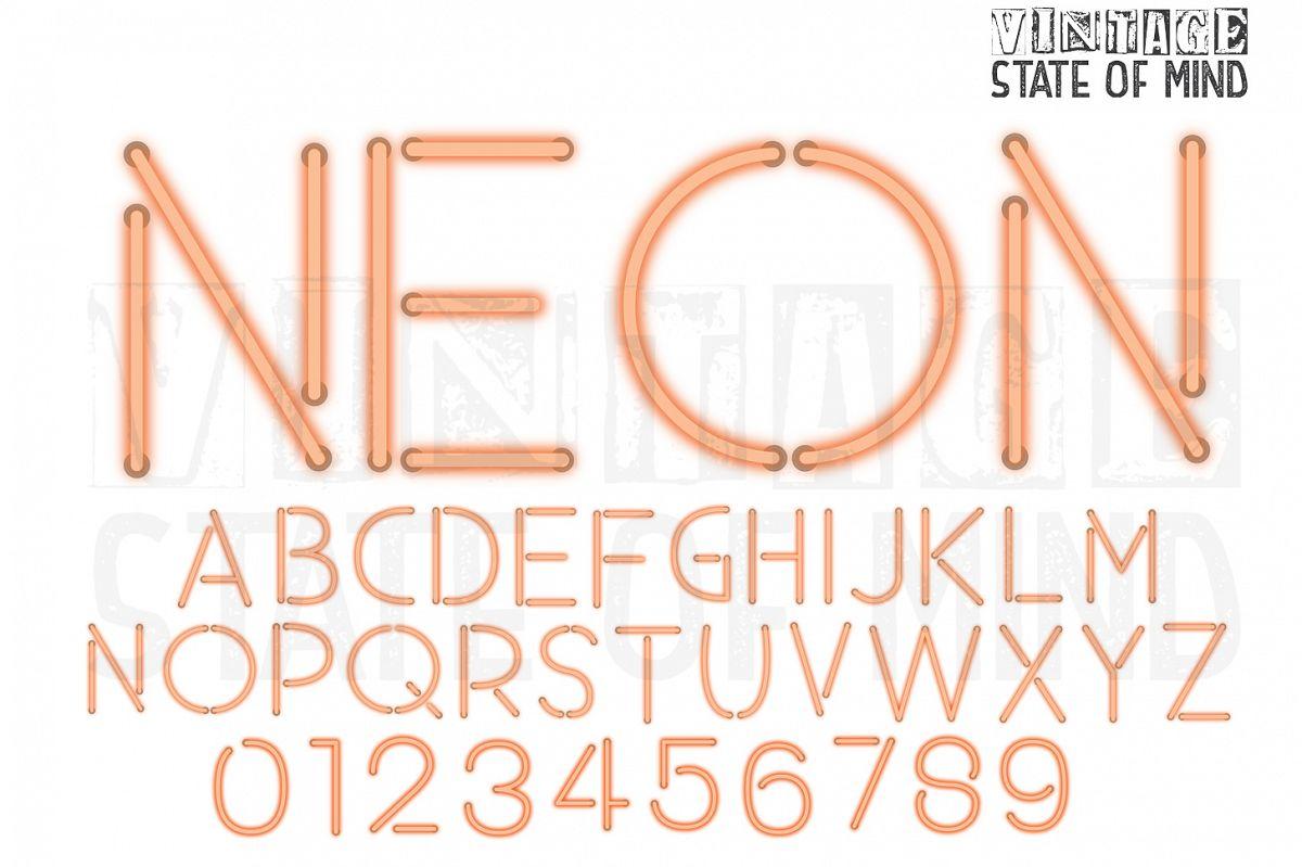 Neon Sign Alphabet Letters