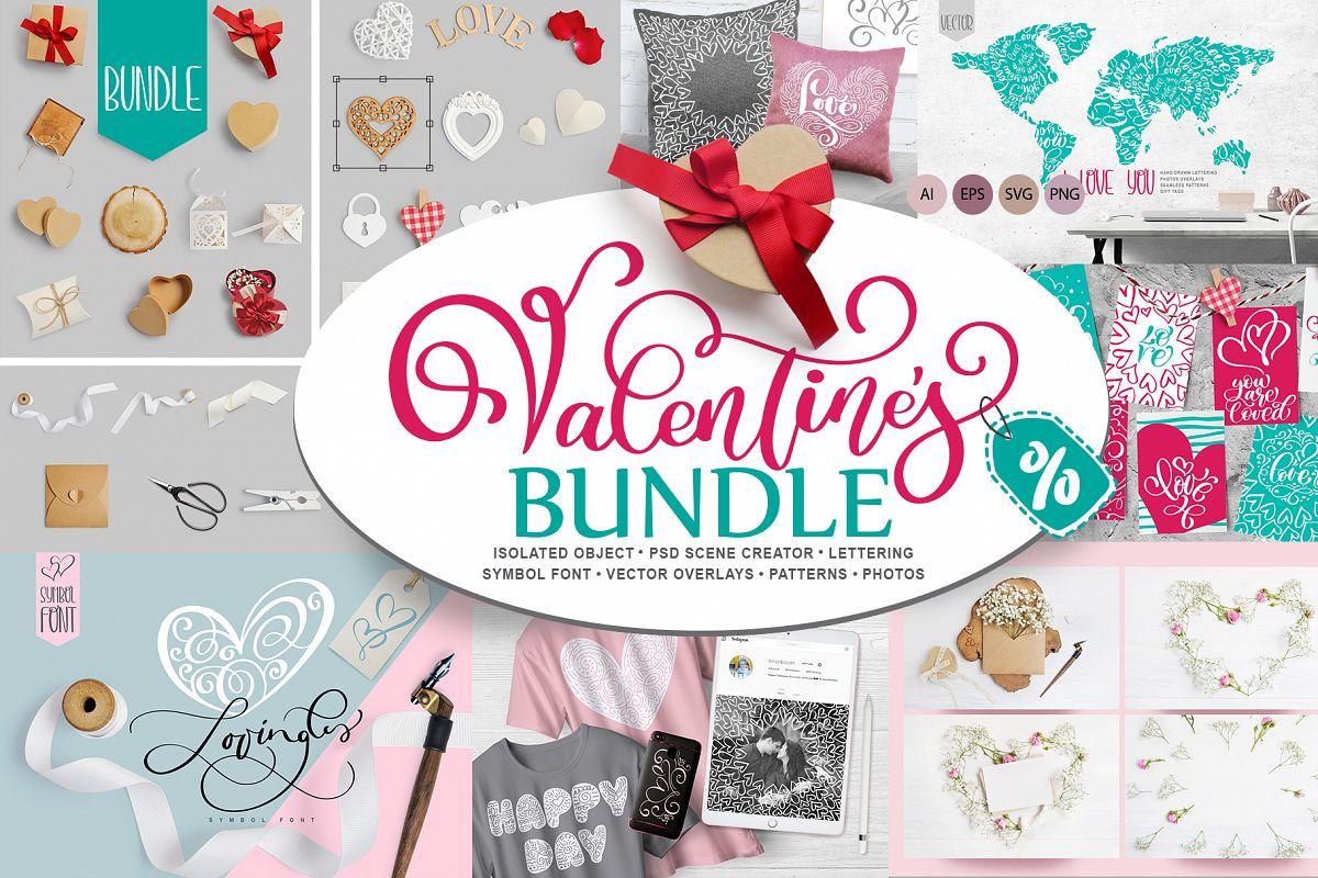 Valentine Bundle mockup example image 1