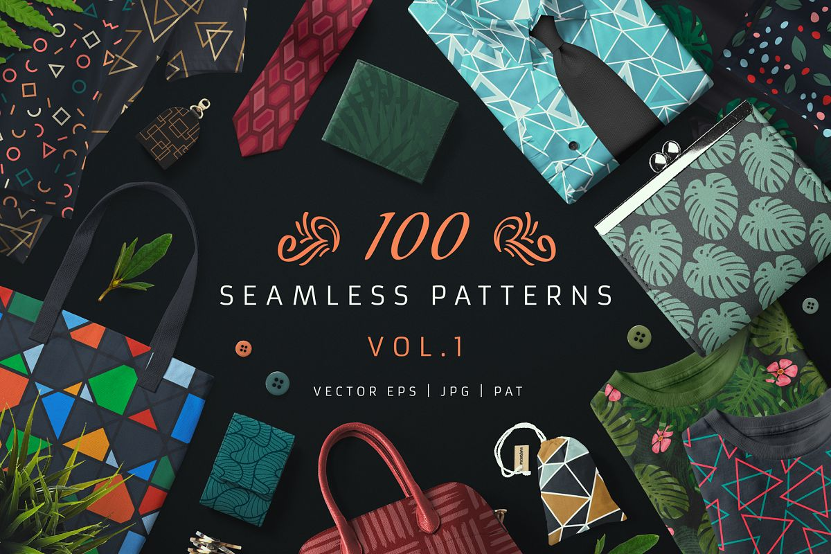 100 Seamless Patterns Vol.1 example image 1