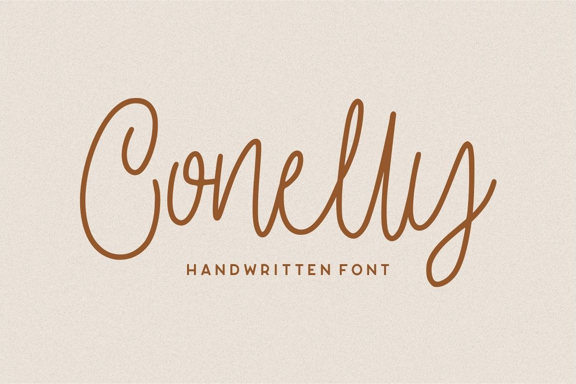 Conelly - Handwritten Font example image 1