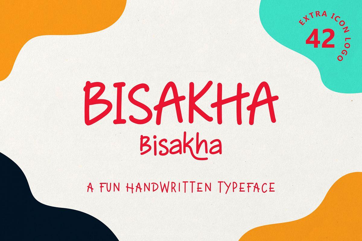Bisakha - Fun Handwritten Typeface example image 1