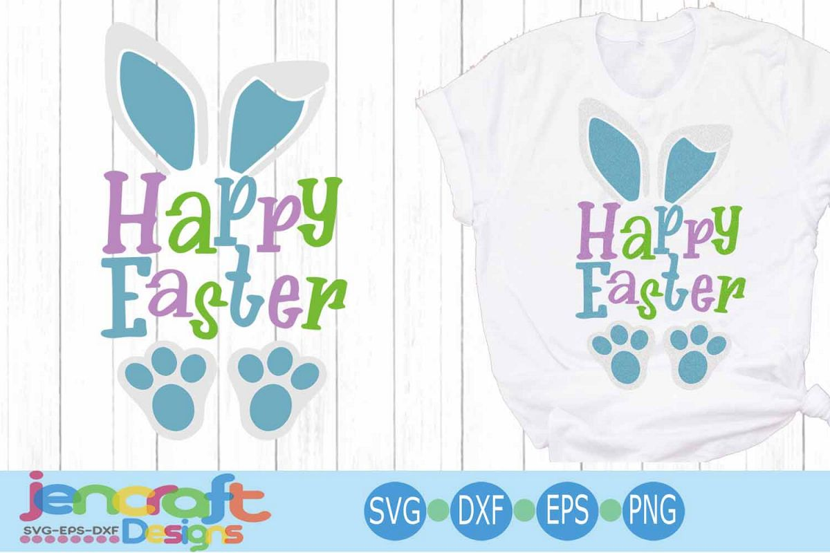 Happy Easter SVG, Easter SVG, Bunny ears Spring svg example image 1