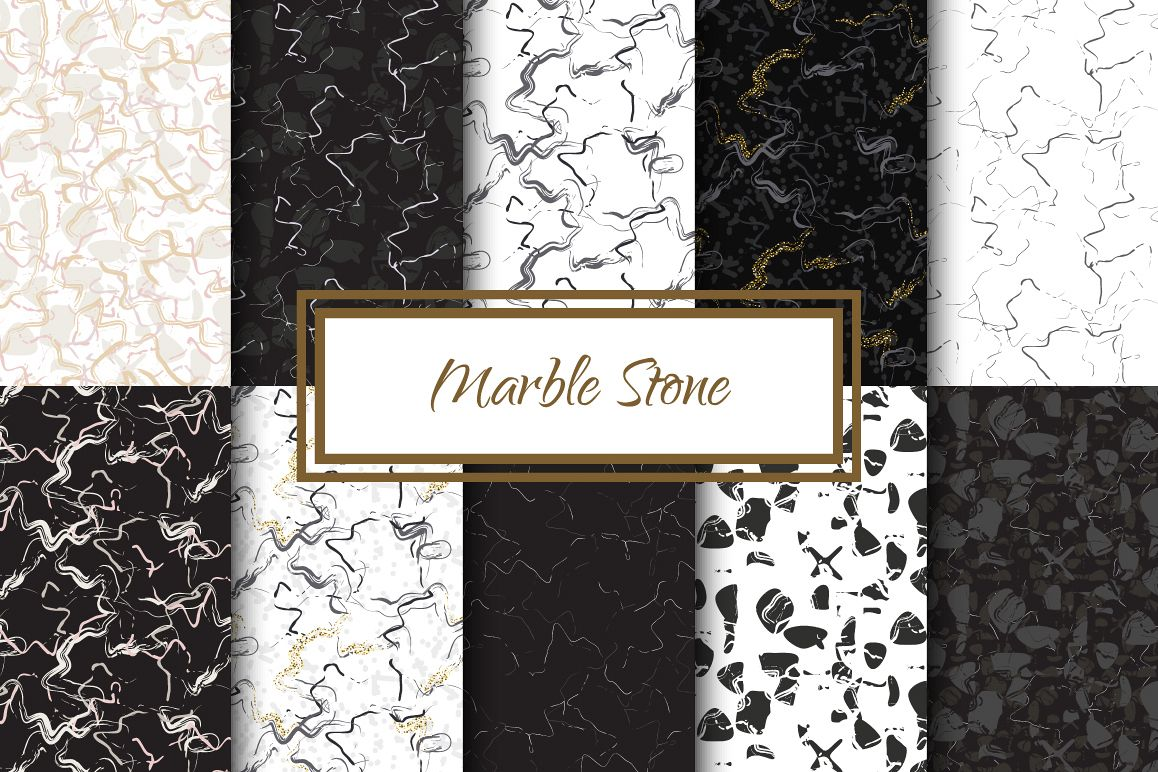 Marble Stone Seamless Patterns example image 1