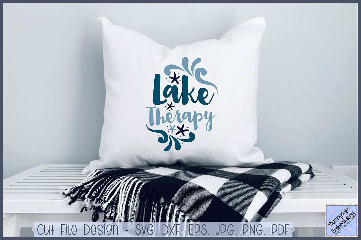 Lake Therapy - SVG, Clipart, Printable example image 1