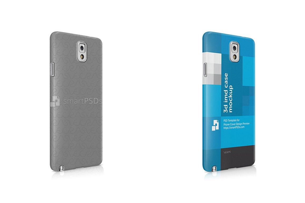 Samsung Galaxy Note 3 3d IMD Mobile Case Design Mockup 2013- Right view example image 1