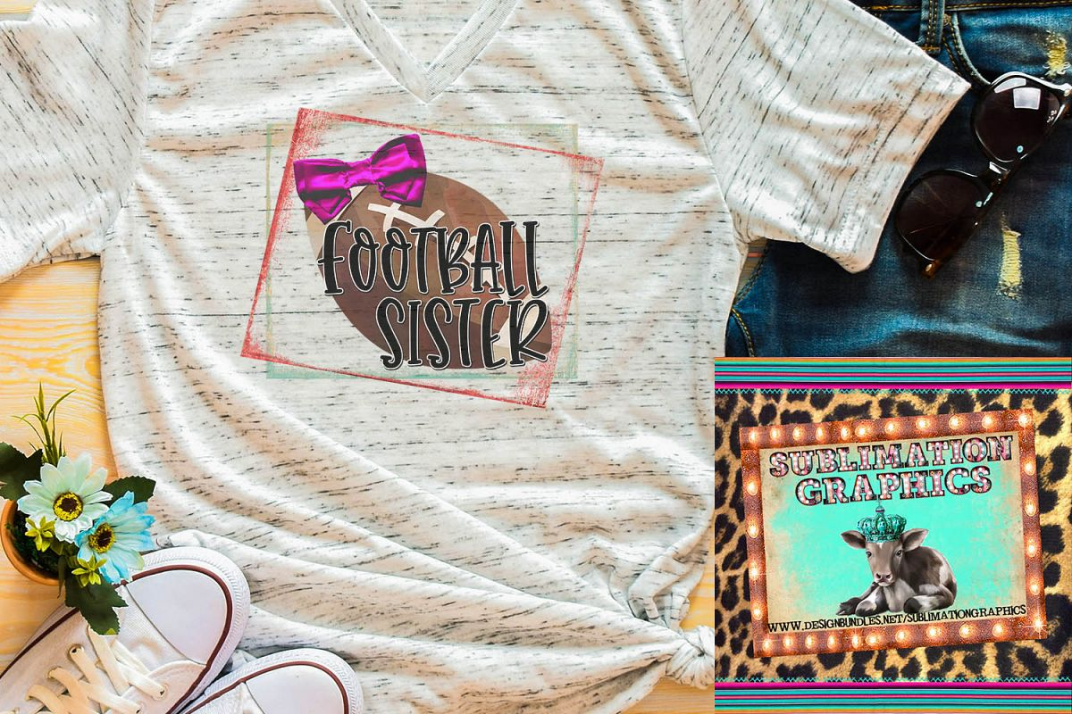 Football Sister Sublimation Download example image 1