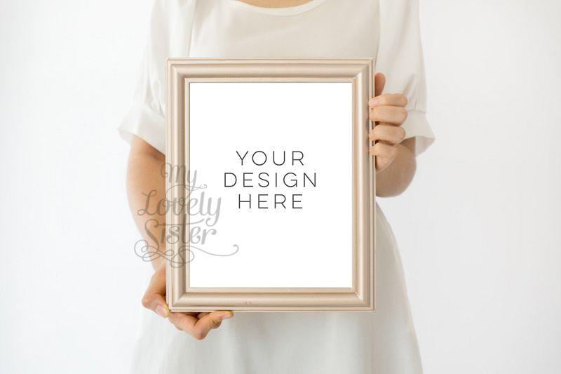 White Mock up Frame, social media template, Smart Object Photoshop ...