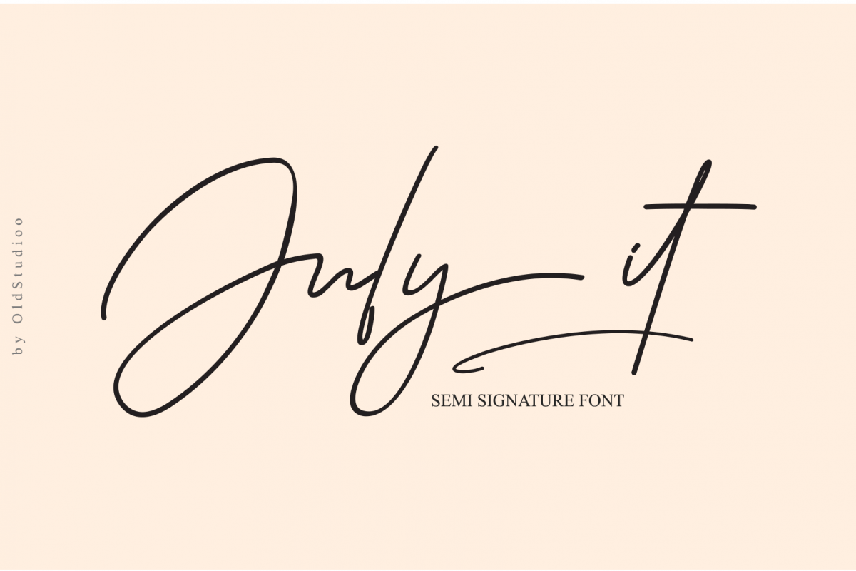 July it Semi Signature Font example image 1