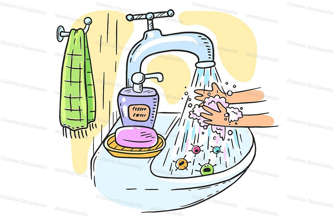 Handwashing with soap or hand hygiene example image 1