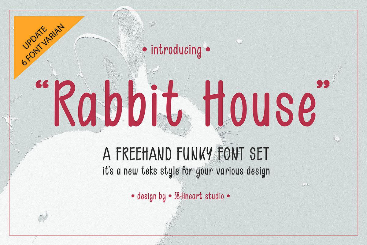 Rabbit House Funky Font Set example image 1