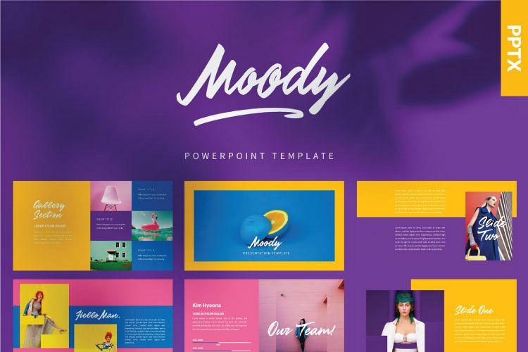 MOODY Powerpoint Template example image 1