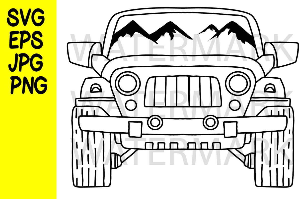 Adventure Vehicle- SVG-EPS-JPG-PNG example image 1