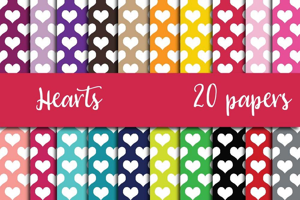 Heart Digital Paper example image 1