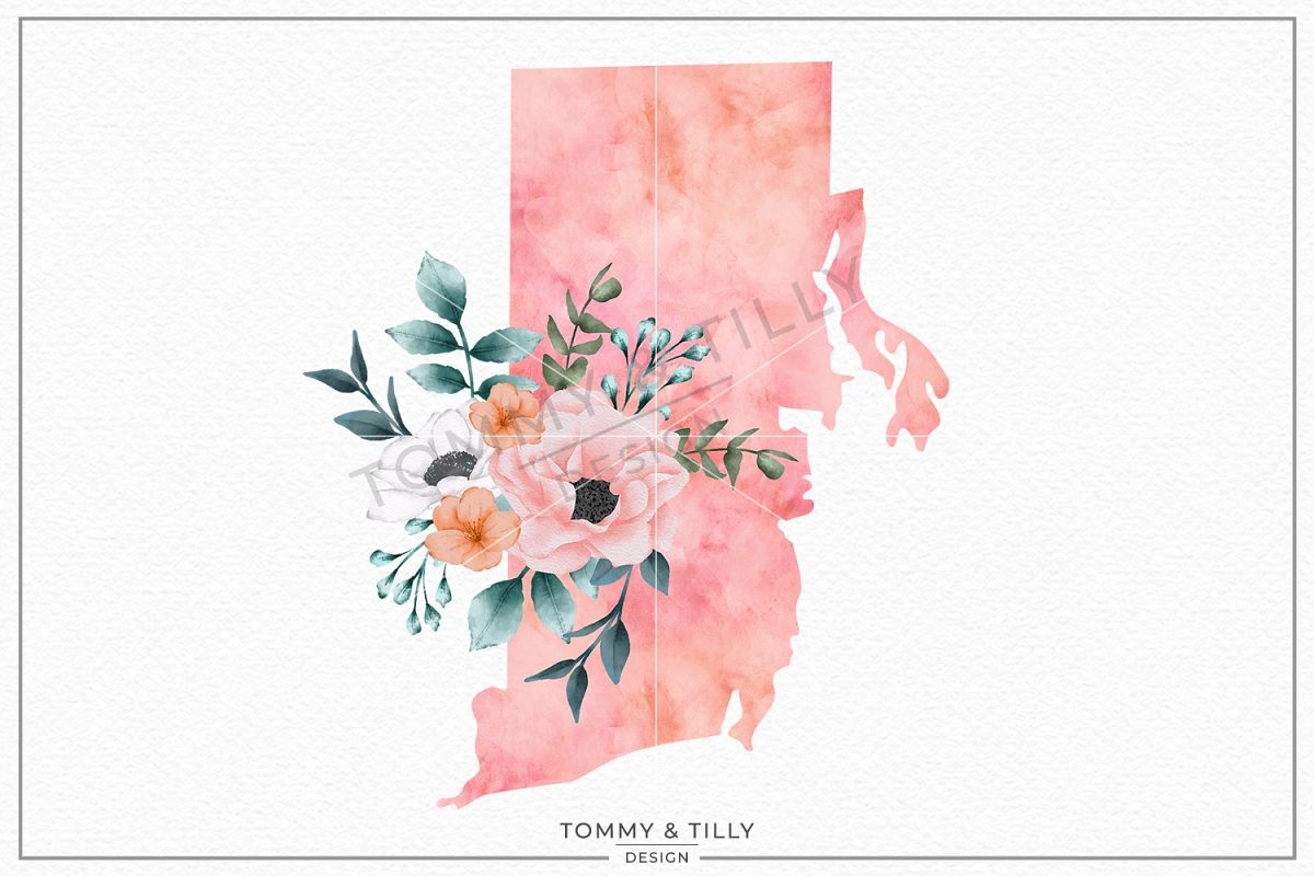 Rhode Island State - Sublimation | PNG | Clipart example image 1