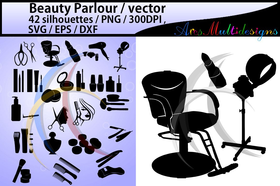 Beauty Parlour SVG Vector / EPS /Dxf / PNG / beauty ...