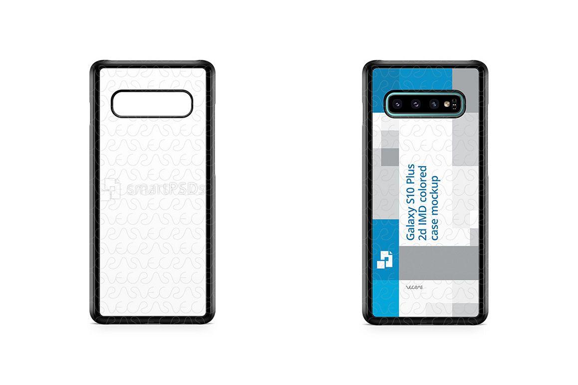 Galaxy S10 Plus 2d PC Colored Case Design Mockup 201 example image 1