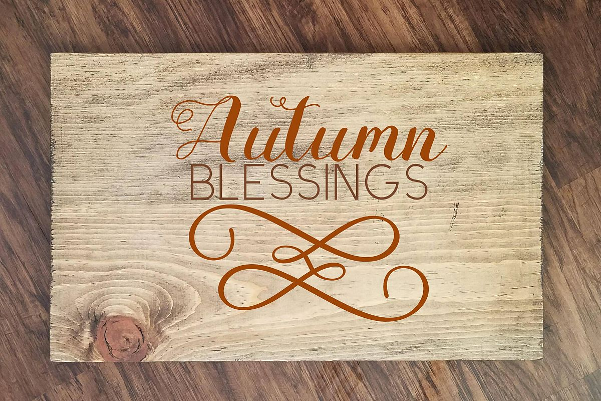 Autumn Blessings SVG Png Dxf eps example image 1