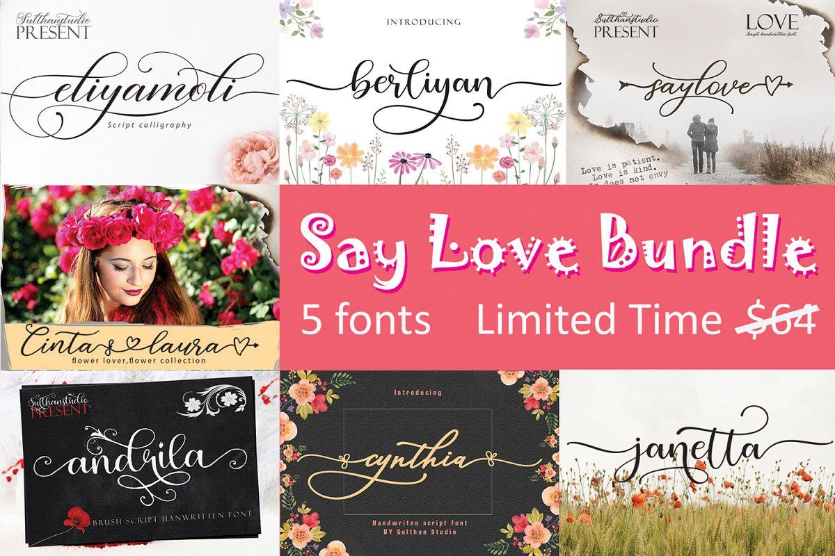 Say Love Bundle example image 1