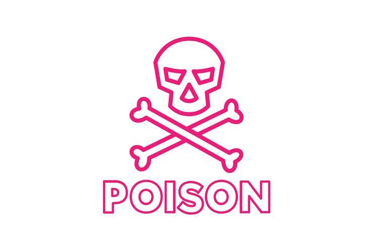 Poison Symbol Icon example image 1