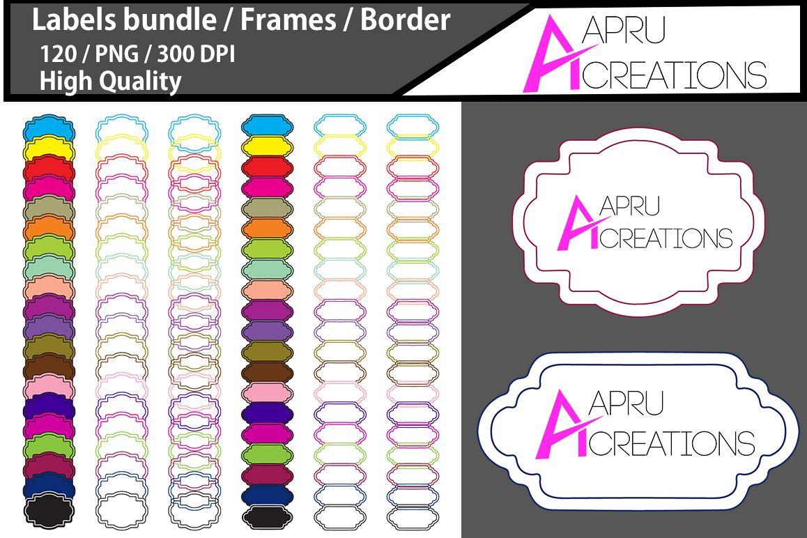 Label frames clipart / label high quality 120 / frames