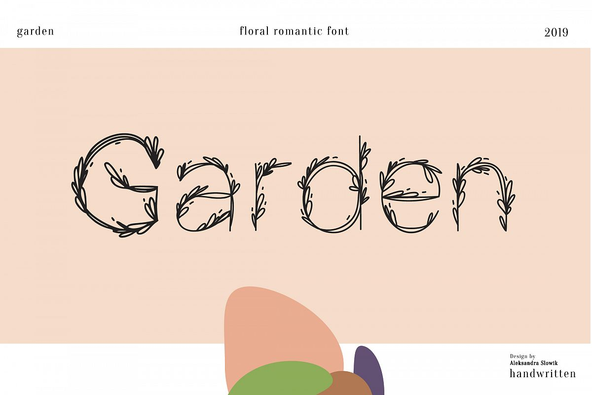 Garden|floral romantic font example image 1