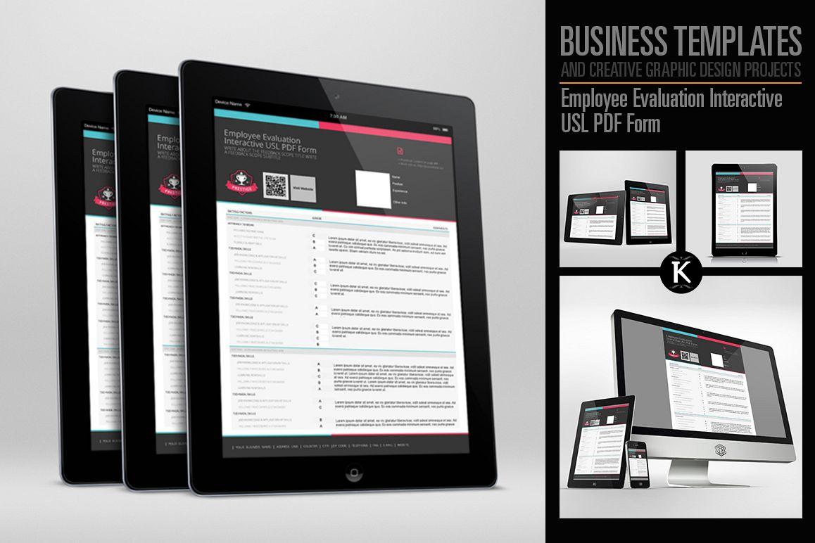 Employee Evaluation Interactive USL PDF | Design Bundles