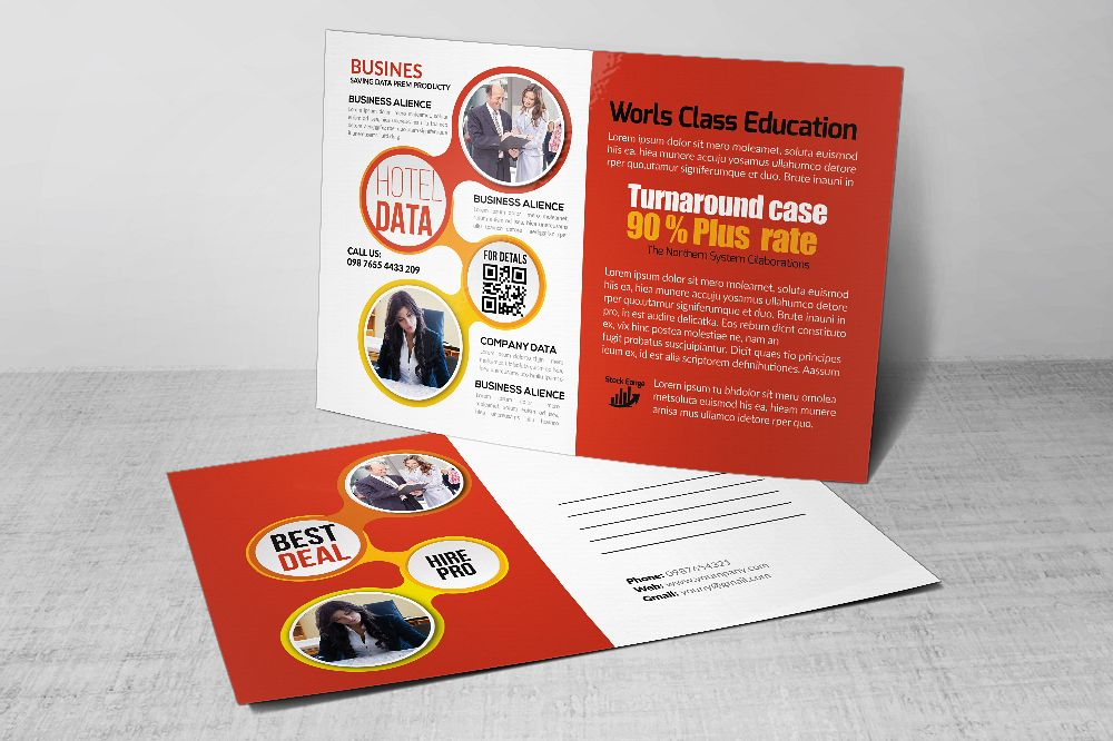Business Postcards print Template example image 1