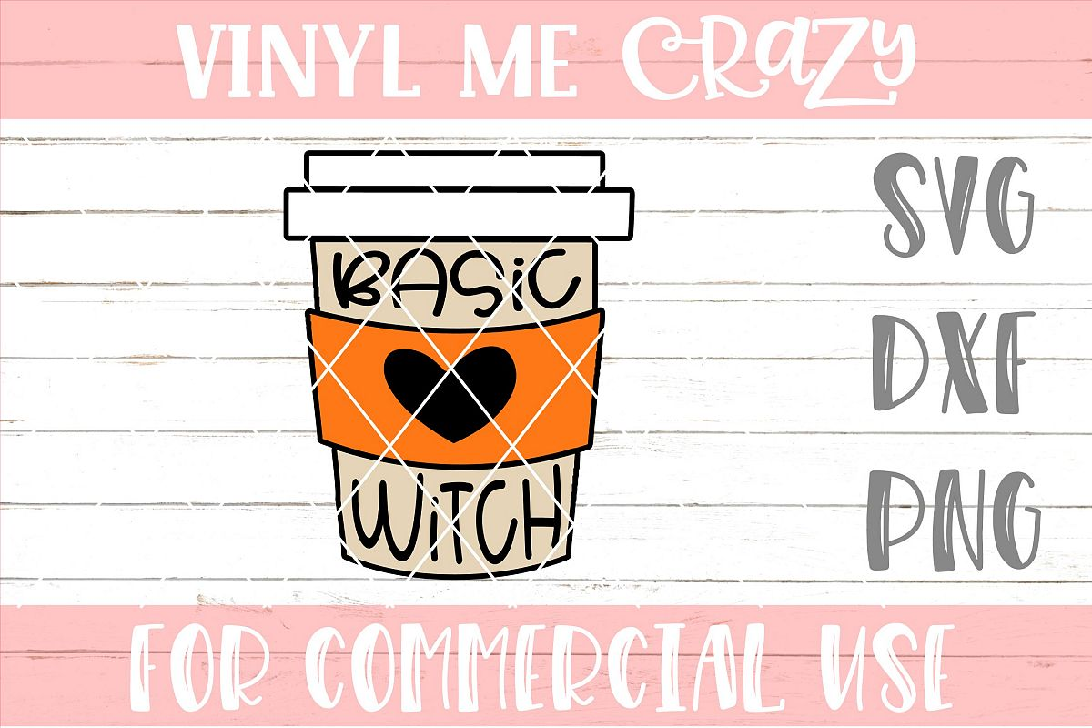 Basic Witch Coffee SVG DXF PNG example image 1