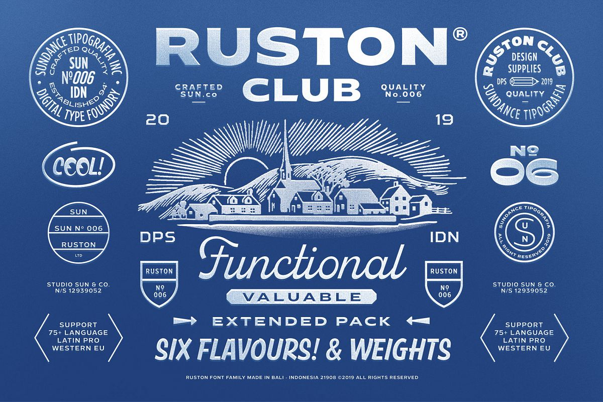 Ruston Font Family example image 1