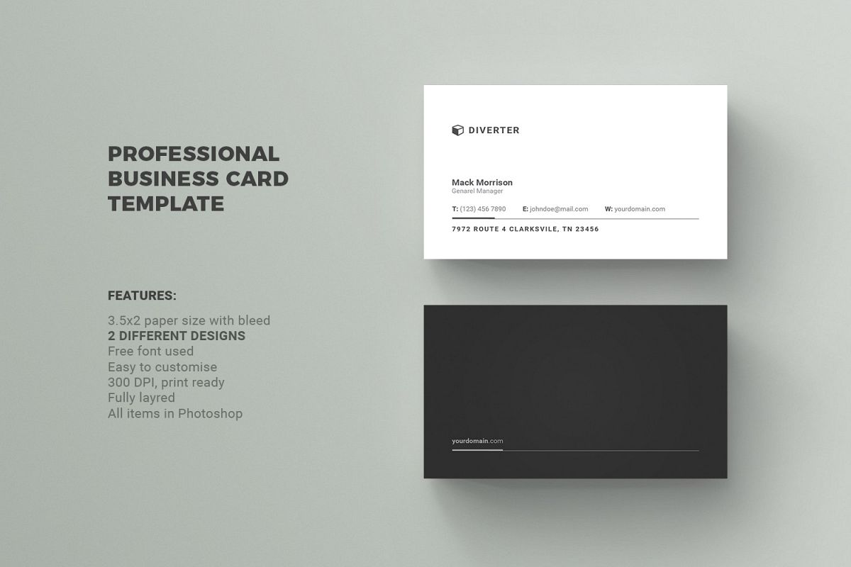 Business card by diverter design bundles business card example image reheart Images