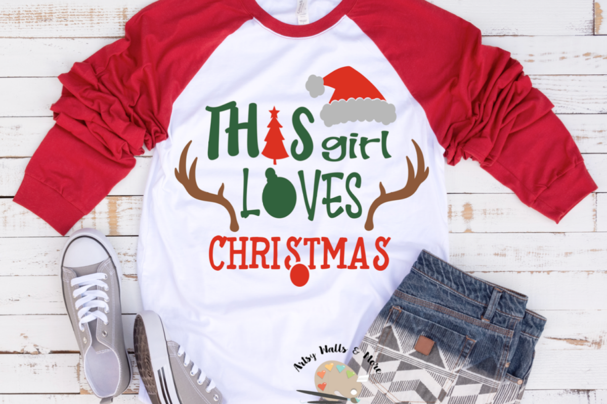 This girl loves Christmas svg Merry Christmas svg Holiday example image 1