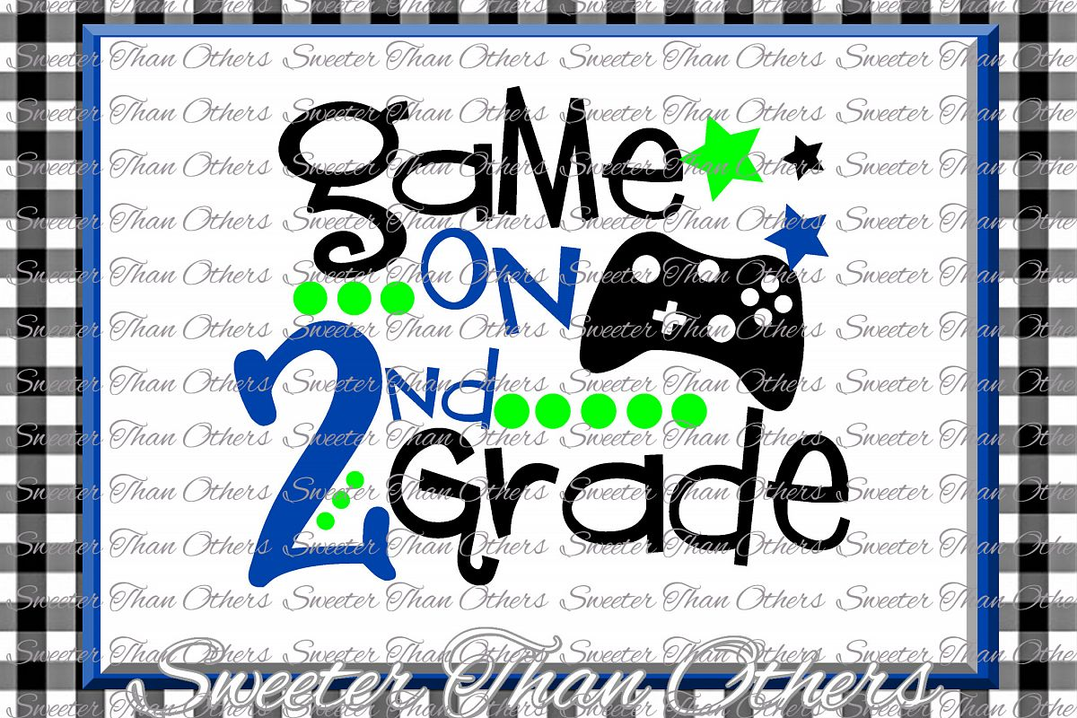Second Grade Svg 2nd Grade Game On Cut File