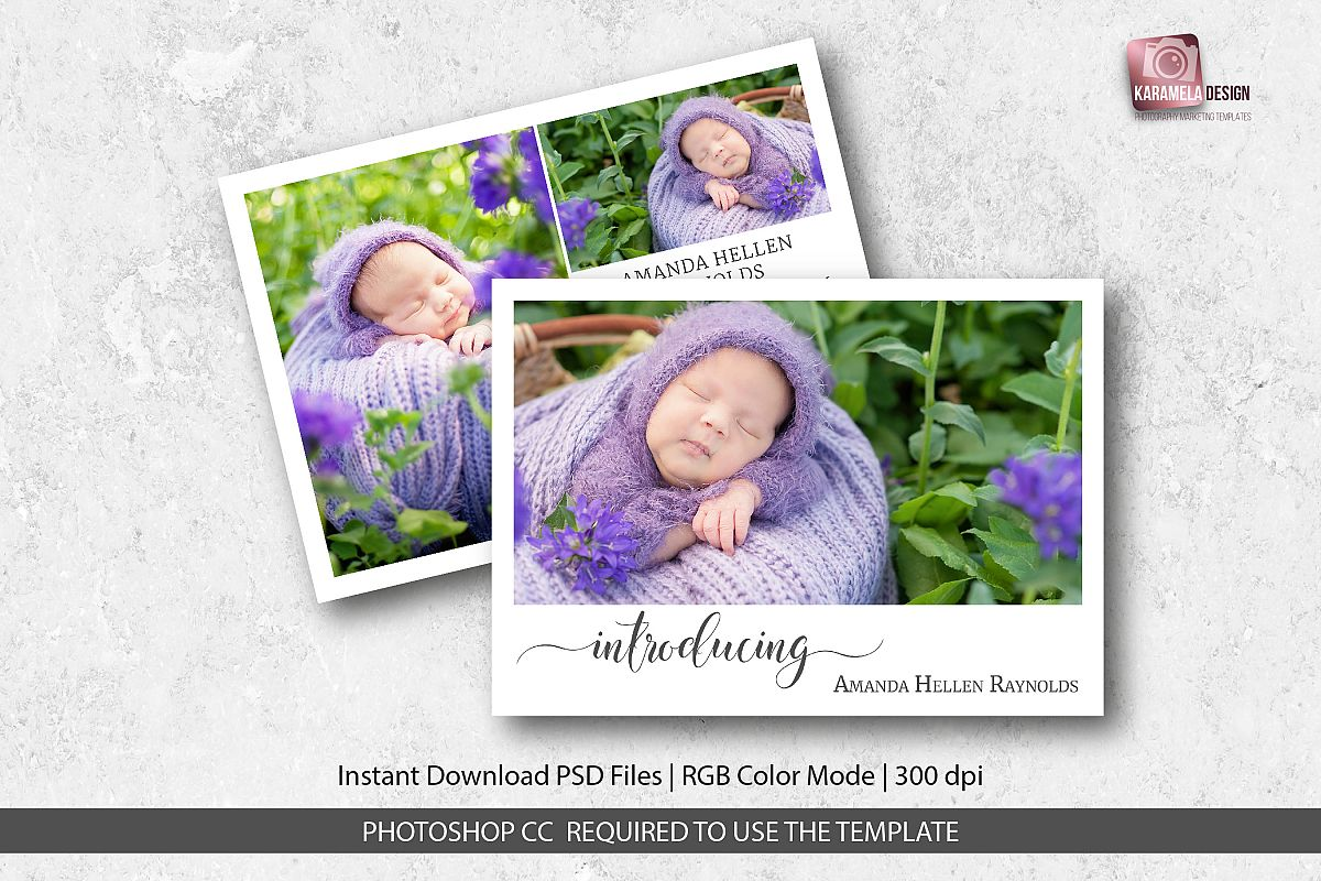 Birth Announcement Template example image 1