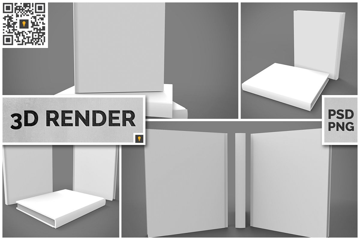 Book Set 3D Render example image 1